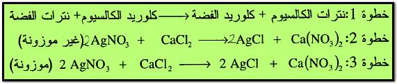 معادلة تفاعل كلوريد الصوديوم مع الماء موزونة