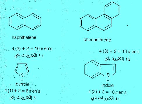 أمثلة على بعض المركبات الآروماتية