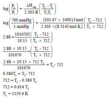 مسائل على معادلة كلاوزيويس – كلابيرون