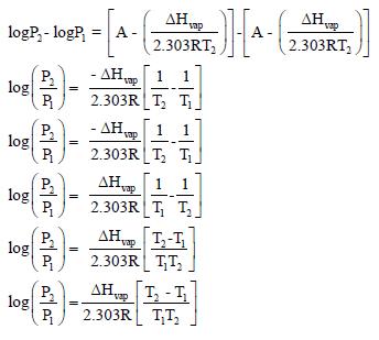استنتاج معادلة كلاوزيويس – كلابيرون